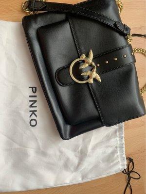 Pinko Tasche aus schwarzem Leder