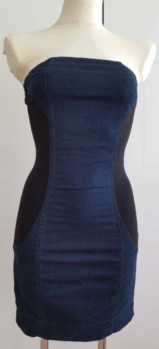 Pinko Off-The-Shoulder Dress dark blue-black