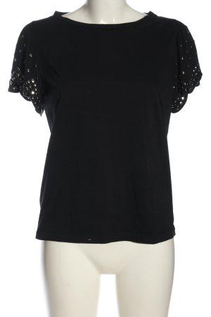Pinko T-Shirt schwarz-silberfarben Casual-Look