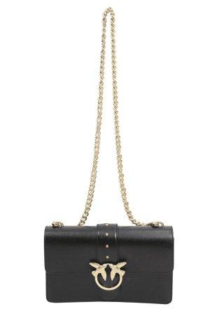 Pinko Umhängetasche in Schwarz aus Leder