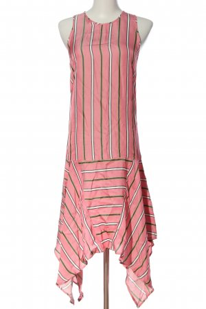 Pinko High Low Dress striped pattern casual look