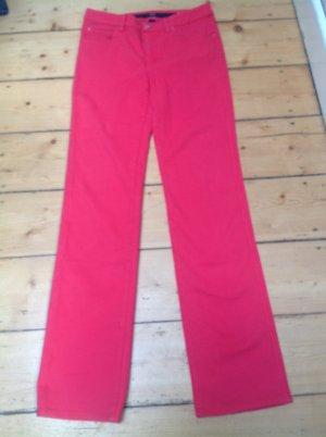Armani Collezioni Jeans met rechte pijpen magenta Gemengd weefsel