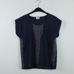 PINS AND NEEDLES Bluse Gr. S blau grau gemustert (20/01/042)