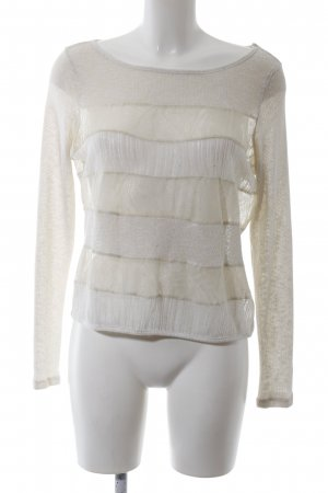 Pins and Needles Gebreid shirt wit-wolwit gestreept patroon casual uitstraling