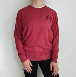 Pioneer S Oversize Pullover rot Pink Pulli Hoodie Sweater Top Oberteil True Vintage