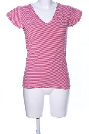 Pip studio Tanktop rot-pink Streifenmuster Casual-Look