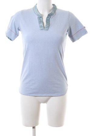 Pip studio V-Ausschnitt-Shirt blau-türkis Casual-Look