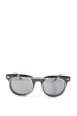 pipel ovale Sonnenbrille schwarz-silberfarben Casual-Look