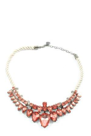 Pippa & Jean Collier bianco sporco-rosso elegante