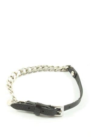 Pippa & Jean Armband silberfarben-schwarz Glitzer-Optik