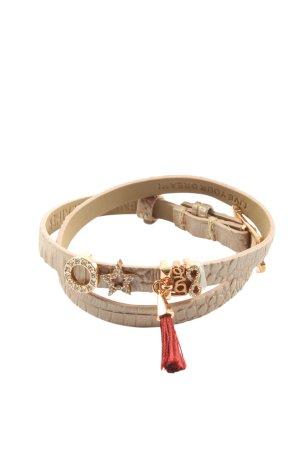 Pippa & Jean Bracelet en cuir crème style décontracté
