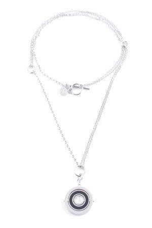 Pippa & Jean Silberkette silberfarben-schwarz Elegant