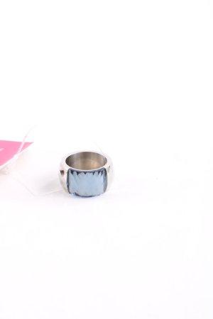 Pippa & Jean Silberring blau-silberfarben Elegant