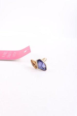 Pippa & Jean Statementring goldfarben-blau Elegant