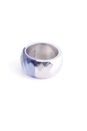 Pippa & Jean Statementring silberfarben-blau Elegant
