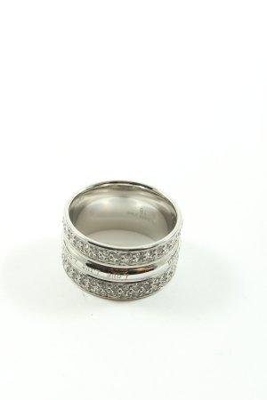 Pippa & Jean Anillo de cuentas color plata estampado temático elegante