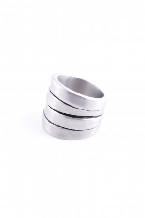 Pippa & Jean Statement Ring silver-colored extravagant style