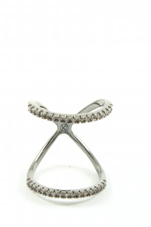 Pippa & Jean Anillo de cuentas color plata elegante