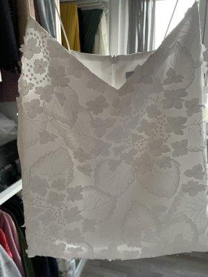 Piqyourdress Haut évasé en bas blanc polyester