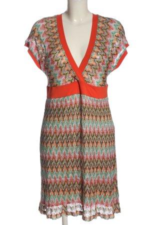 Piú & Piú A-Linien Kleid Allover-Druck Casual-Look