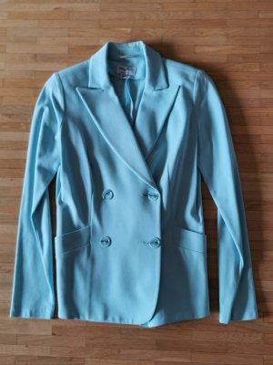 PIU & PIU Blazer Jacke Jersey hellblau Gr. 36