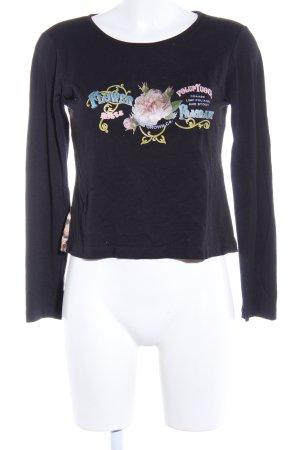 Piú & Piú Cropped Shirt Blumenmuster Casual-Look