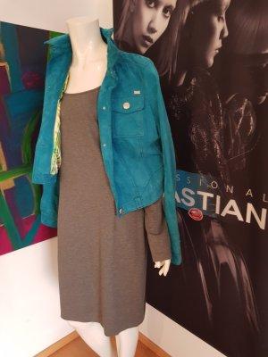 Piu piu Designer Kleid Grau 42 wie neu viskose elasthan 23% polyamide Schlichte Eleganz