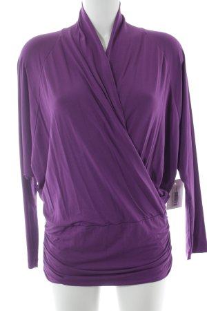 Piú & Piú Empire shirt lila casual uitstraling