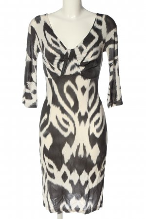 Piú & Piú Empire Dress black-natural white allover print extravagant style