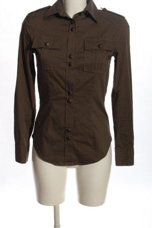 Piú & Piú Camicia blusa marrone Tessuto misto