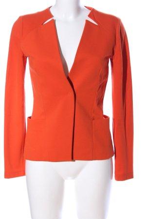 Piú & Piú Jersey blazer licht Oranje zakelijke stijl