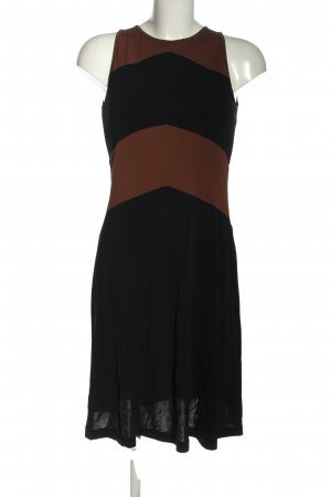 Piú & Piú Jerseykleid schwarz-braun Streifenmuster Casual-Look