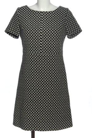 Piú & Piú Abito a maniche corte nero-bianco stampa integrale stile casual