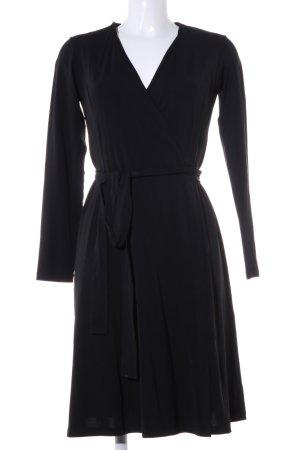 Piú & Piú Robe portefeuille noir style décontracté