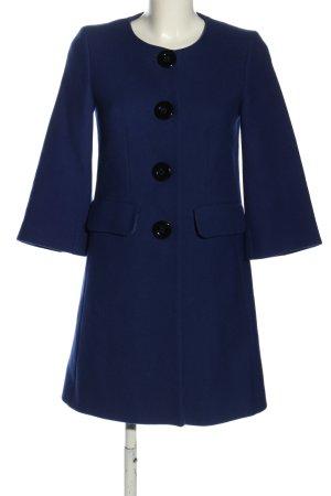 Piú & Piú Wool Coat blue casual look