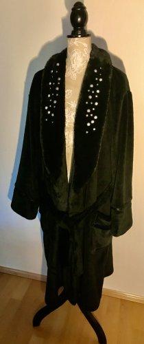 PJ Salvage Szlafrok czarny Tkanina z mieszanych włókien