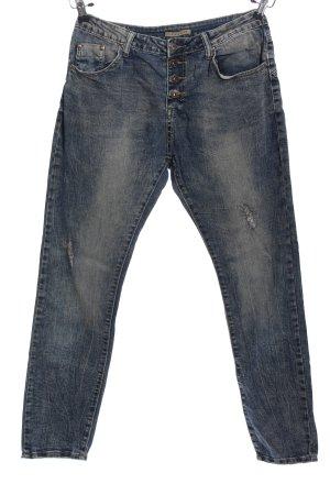 place du jour Five-Pocket-Hose blau Casual-Look