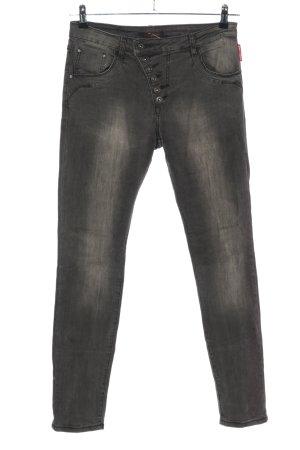 place du jour Slim Jeans hellgrau Casual-Look