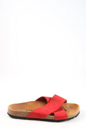 Plakton Sandales confort rouge style décontracté