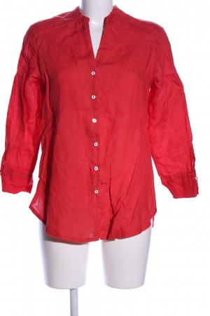 Planet Leinenbluse rot Casual-Look