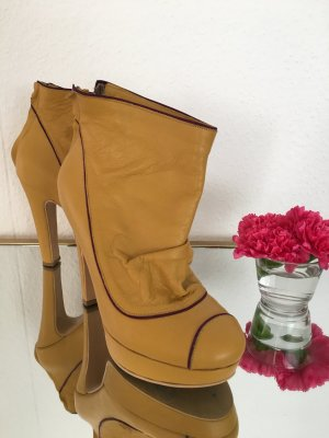 Platform Boots gold orange-lilac leather