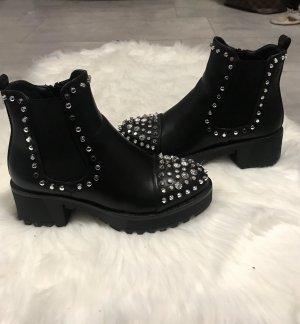 Stiefelparadies Bottines à plateforme noir