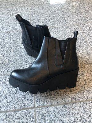 Marco Tozzi Plateauzool Laarzen zwart