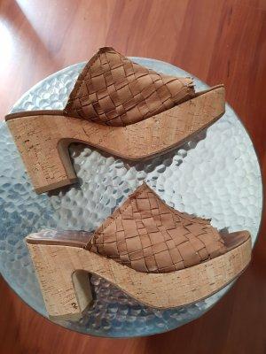 Kennel + schmenger Heel Pantolettes cognac-coloured leather