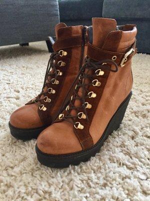 Plateau Halb-Stiefel - Used Look Leder