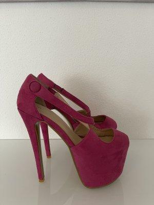 Nelly Tacones con plataforma rosa-rosa