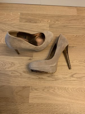 Zara Plateauzool pumps beige