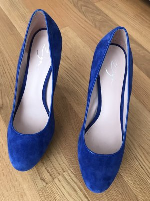 Plateau High Heels marineblau