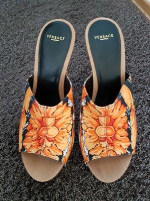 Versace Heel Pantolettes multicolored