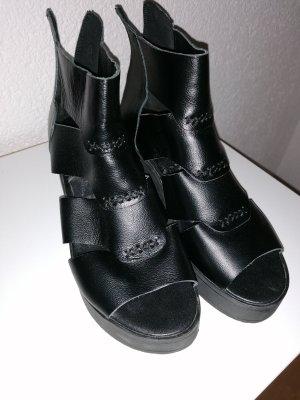 100% Fashion Sandales à talons hauts et plateforme noir